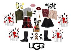 """""""Contest Entry: Ugg Style Day & Night"""" by leicklovelife on Polyvore featuring MCM, UGG, Givenchy, Dsquared2, Tom Ford, Chicwish, RED Valentino, Topshop, Lime Crime and Vans"""
