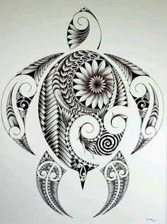 Samoan turtle #tattoossamoantribal