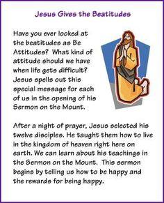 Jesus Gives the Beatitudes (Story) - Kids Korner - BibleWise