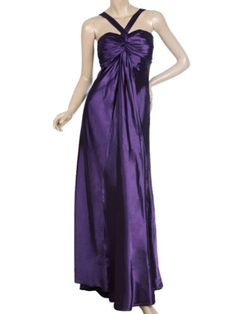 """Ever Pretty Ruffles Satin Padded Trailing Sexy Long Evening Dress 09656Gorgeous purple long prom dress.Unadjustable straps.Padded enough for """"no bra"""" option.Elastic bands in the back for easy fitting.Unique ruffles at the bust area.Additional piece of fabric in the front. More dresses! More pretty! Click here  to find more Ever-Pretty Fashions! About Ever-Pretty:Welcome to Ever-Pretty, your online fashion consult..."""