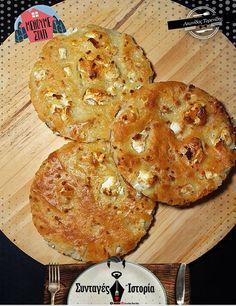 """Η Συνταγή είναι από κ. Leonidas Tarenidis – """"ΟΙ ΣΥΝΤΑΓΕΣ ΤΗΣ ΓΚΟΛΦΩΣ"""". Θα ξετρελαθείτε ! Είναι σαν μια πίτσα λεπτής ζύμης… τραγανή γεμάτη γεύση! ΥΛΙΚΑ 3 Φλιτζ. αλεύρι γ.χ. 1 πρέζα αλάτι 2 φλιτζ. χλιαρό νερό 1 φλιτζ. στραγγιστό Mediterranean Recipes, Sweet And Salty, Greek Recipes, Cake Cookies, Tart, Cake Recipes, Food And Drink, Yummy Food, Sweets"""