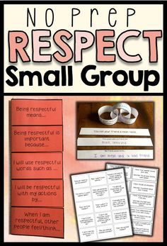 A 6 session, no-prep, social skills group plan focused on respect. Students will learn the importance of being respectful, as well as practical ways to do so. Each session includes an objective, discussion points and an activity. Also includes a 6 item survey to measure growth and two bonus activities.p.3: General Group Hintsp.4: Survey for Data Collectionp.5-6: Session 1- What Is Respect And Why Is It Important?p.7-9: Session 2- Using Respectful Wordsp.10: Session 3- Behaving Respectfully