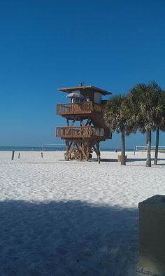 I would love to be walking by this lifeguard stand right now into the gulf coast waters ~Anna Maria Island~