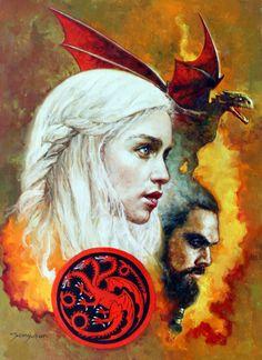 """Daenerys Targaryen and Khal Drogo by Manuel """"Sanjulian,"""" Clemente"""