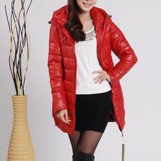 Clearance Women Long Winter Warm Jackets Fashion Women Casual Slim Winter Outwear Cotton Coat Drop Shipping