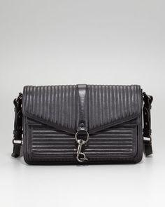 Hudson Moto Crossbody Bag, Black by Rebecca Minkoff at Neiman Marcus.