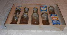 1960'S BALL MASON JAR SALESMAN SAMPLE BOX OR COUNTRY STORE DISPLAY