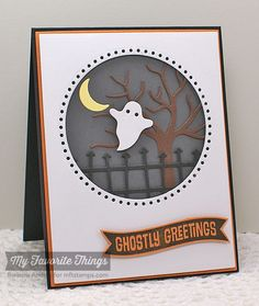 Spooky Sentiments, Spooky Scene Die-namics, Stitchable Dot Circle STAX Die-namics - Barbara Anders #mftstamps