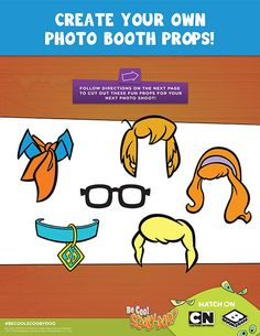 #ScoobyDoo Create Your Own Photo Booth Props #DIY