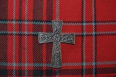 Silver Celtic Cross Kilt Pin