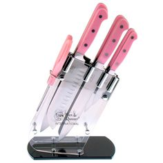 Hen & Rooster 7-piece Pink Kitchen Cutlery Set - Overstock Shopping - Great Deals on Hen & Rooster International Block Sets