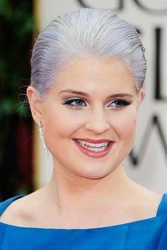 Gray hair for Kelly Osbourne