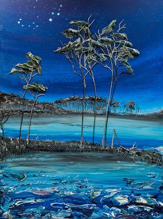 "30""x40"" - Acrylic on Canvas - Coastal Series- Artist, Justin Gaffrey"