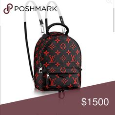 ISO MINI PALM SPRINGS BACKPACK huuuge ISO mini red and black Palm Springs backpack!!! Louis Vuitton Bags Backpacks
