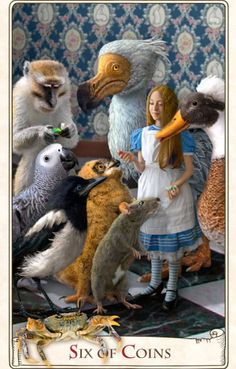 Is that you Alice? Alice in Wonderland. Alice Tarot by Baba Studio Lewis Carroll, Adventures In Wonderland, Alice In Wonderland, Illustrations, Illustration Art, Les Gobelins, The Magic Faraway Tree, Inspiration Artistique, Oracle Cards
