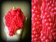 Spring #Scarf - #Pink #Bubble - #Vintage #Italian Summer #Accessory