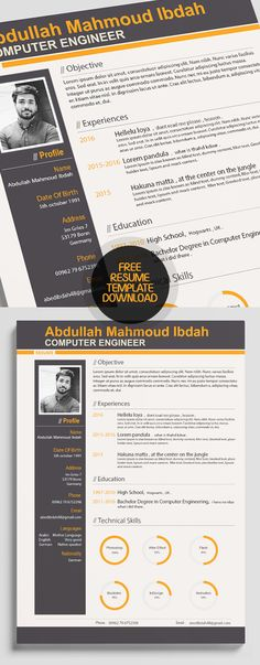 Professional Resume Template - Word + Indesign freelance - it professional resume template word