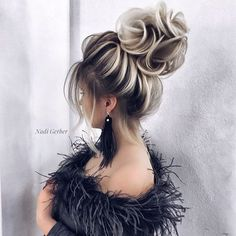 Hair haircolor uphair by nadigerber aheadhairmedia lonewong aheadhairtrends aheadhairmedia aheadbeauty easy long hairstyles work Quince Hairstyles, Braided Hairstyles For Wedding, Ponytail Hairstyles, Bride Hairstyles, Hairstyle Ideas, Updos, Pagent Hair, Prom Hair, Bridesmade Hair