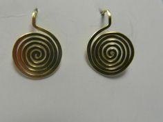 """Spiralohrstecker """"elegancia"""" in Bronze von LaSombrilla auf DaWanda.com"""