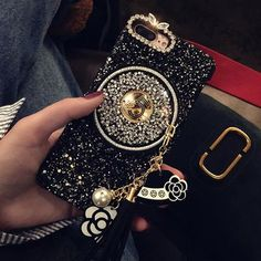 Bling Diamond Cute Bear with Crystal Chain Case Cover for iPhone X XR MAX 6 7 8 in Cell Phones & Accessories, Cell Phone Accessories, Cases, Covers & Skins Girly Phone Cases, Glitter Phone Cases, Iphone 6, Iphone Phone Cases, Apple Iphone, Pearl Chain, Black Diamond, Mobile Covers, Black Luxury