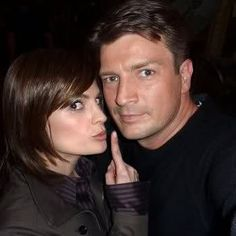 castle- too cute! Nathan Fillion and Stana Katic
