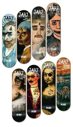 Jart Skateboards Art Pro Series by Mitxel Gonzalez Zabalo