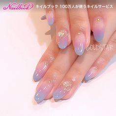 May 2019 - french nails acrylic Blue Cute Nails, My Nails, Kawaii Nail Art, Asian Nails, Korean Nail Art, Asian Nail Art, Mermaid Nails, Minimalist Nails, Japanese Nails