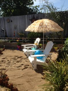 Beach Backyard Ideas how about creating your very own beach getaway in the backyard all you need is Our Backyard Beachcover Umbrella With Fake Grass
