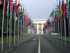 UN Headquarters in Geneva, Switzerland.  Go to www.YourTravelVideos.com or just click on photo for home videos and much more on sites like this.