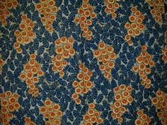 Examples of the use of orange in Art Deco fabrics from the 1920s-1930s (4 of 4).