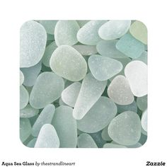 Aqua Sea Glass Coaster, gives the feel of being on a exotic vacation.