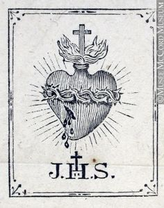 holy heart engraving - Google Search