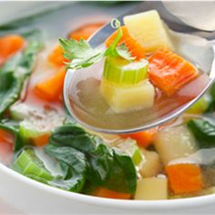 Sopa de Verduras Receta - ¡Qué! Gourmet