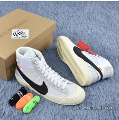 b7dc9665e036 Nike UNC OFF-White X Blazer Mid OW Joint 32-10 Skateboard Shoes AA380 New  Release