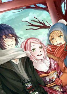 Team 7: Sakura, Sasuke and Naruto♥♥♥ Wallpaper ♥ #strong #love #together #bonds #comrades