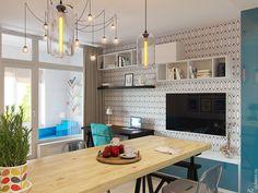 Современный дизайнерский интерьер квартиры 29 кв. м.