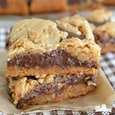 Peanut Butter Fudge Cookie Bars TRY SUGAR OR OATMEAL COOKIE