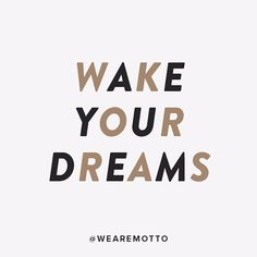 Resolve to wake your dreams today, tomorrow, every day. Motto Quotes, Life Quotes, Dream Big, Dreaming Of You, Dreams, Instagram Posts, Inspiration, Quotes About Life, Biblical Inspiration