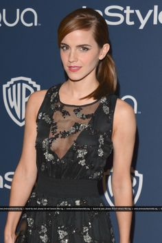 Emma Watson attends the 2014 InStyle And Warner Bros. 71st Annual Golden Globe Awards Post-Party held at The Beverly Hilton Hotel on January, 12. HQ
