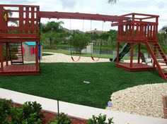 Backyard playground installation from Southwest Greens