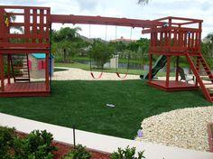 Backyard playground installation from Southwest Greens