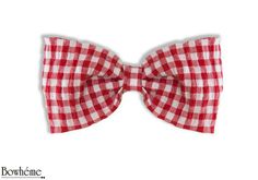 Ready Tied Bow Tie Red checkeredVANNI by Bowheme on Etsy, $9.00