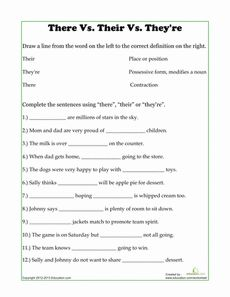 They're-vs-There-vs-Their-Homophone-Worksheet | Homophones ...