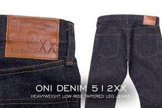 """Oni Denim 512XX Heavyweight Low Rise Tapered Leg Jeans""    http://denimfuture.com/read-journal/oni-denim-512xx-heavyweight-low-rise-tapered-leg-jeans"