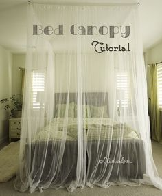 how to make a ceiling mounted bed canopy DIY tutorial- its official.. when i get to michaels or something, im making this!!!