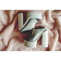 Blow Fashion with the @jeffreycampbell Kai Platforms in Gray #mules || Get the shoes: http://www.nastygal.com/shoes/Jeffrey-Campbell-Kai-Platform-Mule--Gray?utm_source=pinterest&utm_medium=smm&utm_term=ngdib&utm_content=omg_shoes&utm_campaign=pinterest_nastygal