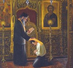 Darkness and Light, Sin and Forgiveness: The Mystery of Holy Confession – St. John the Baptist Greek Orthodox Church Orthodox Priest, Orthodox Christianity, Orthodox Prayers, Religious Images, Religious Icons, Religious Art, Christian Church, Christian Prayers, Christian Art