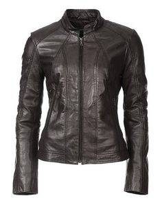 WOMEN SOFT-BLACK SOLID LAMB SKIN LEATHER BOMBER JACKET HANDMADE XS,S,M,L,XL J219 #HANDMADE #BasicJacket