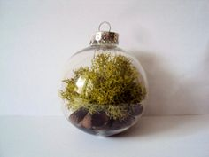 Woodland Moss Bauble Ornament  Rustic by ElizabethanFolkArt, $10.00