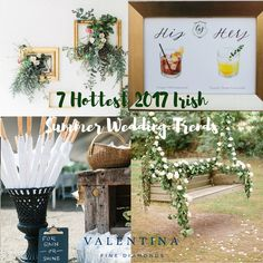 Planning a wedding? RSVP'ing to summer weddings? Check out our infographic to see the 7 hottest wedding trends you'll be seeing across the country this summer. Irish Wedding, Wedding Rsvp, Wedding Trends, Infographics, Summer Wedding, Wedding Planning, Diamonds, Make It Yourself, Table Decorations